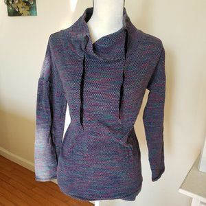 T by Talbots Drawstring Cowlneck Top